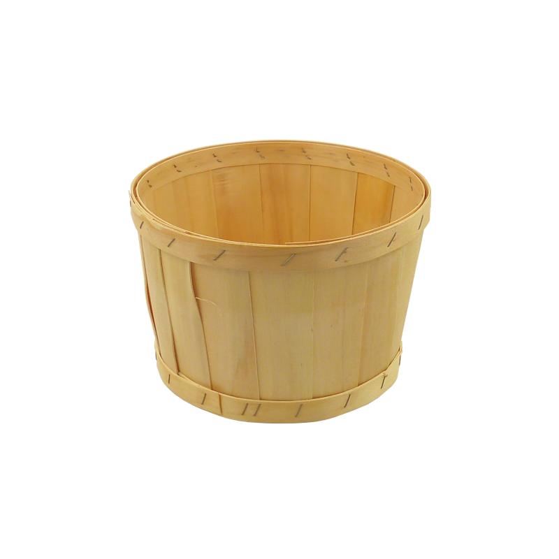 Panier bois rond plein agrafé BOU225 Ø258 HT134 6.50L